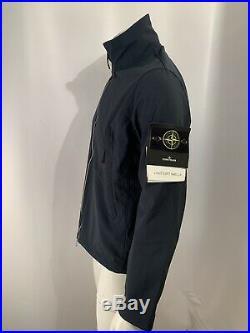 2020 Stone Island Light Soft Shell-r Navy Blue Jacket Medium. 721540827 Rrp £495