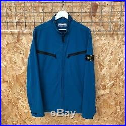 £475 Stone Island Comfort Soft Shell R bomber jacket Light blue XXL 2XL