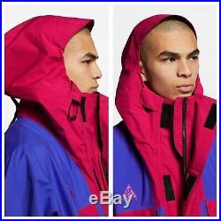 $500 Nike ACG Gore-Tex Men's Sz Small Jacket Blue Rush Pink BQ3445-666