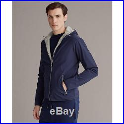 $695 Ralph Lauren Purple Label RLX Navy Fleece Softshell Hooded Jacket Coat NWT