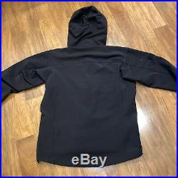 ARCTERYX Gamma MX Hoody Soft Shell Jacket Zip arc'teryx Black Red Mens LARGE