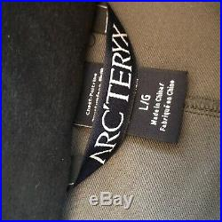 Arcteryx Leaf Drac Mens Softshell Wolf Grey Jacket Size Large 43