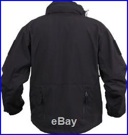 Black Ambidextrous Military Soft Shell Concealed Carry Tactical Jacket