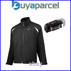 Bosch GHJ 12-18V Solo Cordless Battery Heated Jacket Black L Large & Adapter