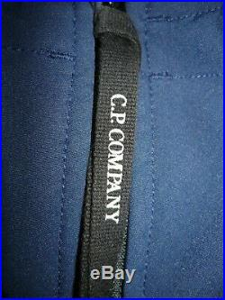 CP Company Goggle blue soft shell jacket size 48 (fits small)