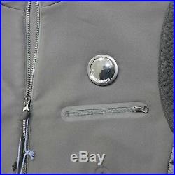 CP Company Mixed Soft Shell Down/Knit Jacket Black