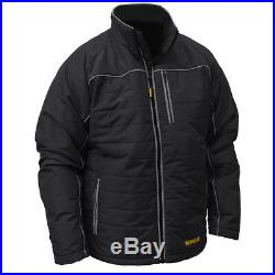 DeWALT DCHJ075D1-3X 20-Volt Heated Quilted Soft Shell Jacket Kit, Black 3XL