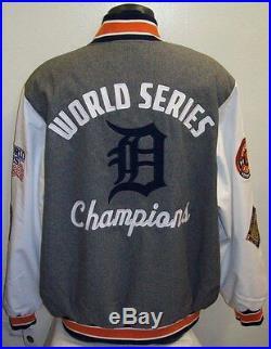 Detroit TIGERS 4 Time World Series Championship Soft Shell Jacket S M L XL 2X