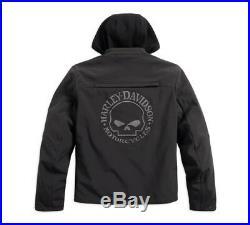 Harley-Davidson Reflective Skull 3-in-1 Soft Shell Riding Jacke Gr. XXL Herren