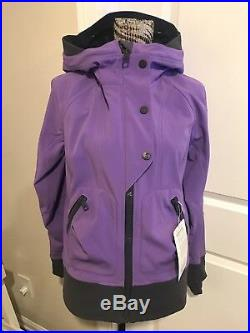 LULULEMON Escapade Coat Jacket w Hood Soft Shell Purple size 8