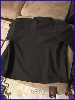 Large Ariat Men's FR Vernon Black Flame-Resistant Softshell Jacket 10024027