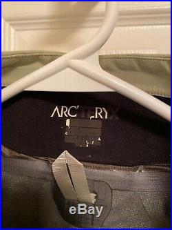 Mens Arcteryx Stingray Jacket GORETEX shell RECCO Medium Mineral