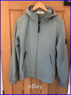 Mens Sky Blue Stone Island Soft Shell R Jacket Medium (M) 100% Genuine