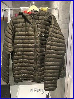 Mens rab microlight alpine Hooded jacket Size XXL