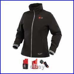 Milwaukee 232B-21M M12 Women's Heated Softshell Jacket Kit Medium, Black
