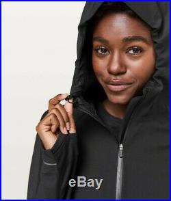 NWOT $198Lululemon CROSS CHILL JACKET Black Hoodie Warm Waterproof Windproof 4
