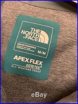 NWT The North Face Men's Apex Flex GTX Jacket Gore-Tex Medium Garden Green