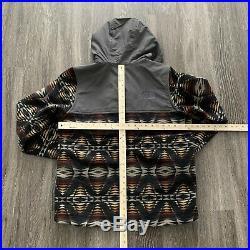NWT The North Face Pendleton Jacket, Wool Graphite Grey Print, Men M / Women L
