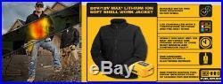 New DeWalt Black Soft Shell Heated Black Jacket Small DCHJ060B-S 20V/12V MAX
