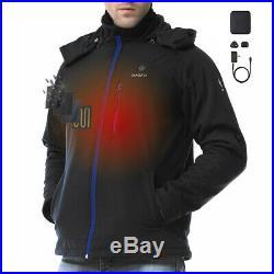 ORORO Men Heated Jacket Winter Heat Coat Battery Winter Outdoor Warm Clothing
