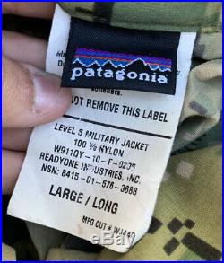 Patagonia AOR1 Level 5 Military Jacket Soft Shell Large Regular SEAL DEVGRU NSW