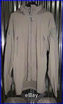 Patagonia Alpha Grey Extra Large Long Soft Shell Level 5 Combat Jacket PCU