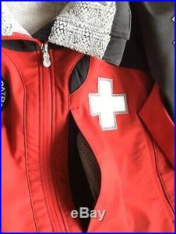 Patagonia National Ski Patrol Jacket Soft Shell Coat Mens L Red Water Resistant