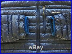 Patagonia Ultralight Down Jacket Blue Men's Size Medium Rare Hiking Winter
