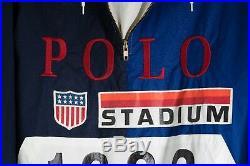 Polo Ralph Lauren 1992 Stadium Plates Pullover Jacket Size Small OG NOT RETRO