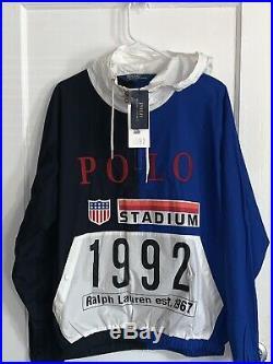 Polo Ralph Lauren Stadium 1992 Popover RETRO Pullover Jacket MEDIUM