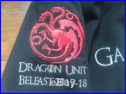 Rare Game Of Thrones Season VIII Dragon Unit Belfast Film Crew Jacket Large