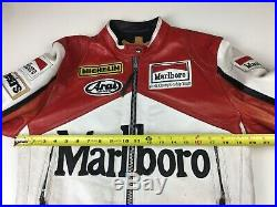 Rare Marlboro Man Formula Racing Leather Jacket Indian Motorcycle Womens Large