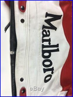 Rare Marlboro Man Formula Racing McQueen Leather Jacket Indian Motorcycle Sz40