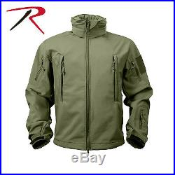 Rothco Waterproof Windproof OPS Tactical SoftShell Jacket Cold Weather with Cap