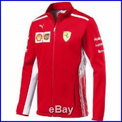 Scuderia Ferrari 2018 Team Softshell Jacket Coat Top Lightweight Warm Mens PUMA