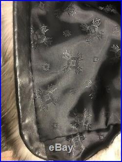 Silver Fox Fur Coat Luxury Fur Jacket Beautiful Look Size L
