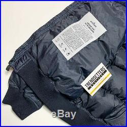 Stone Island Garment Dyed Micro Yarn Down Mens Jacket XL X Large Navy Blue Hood