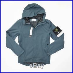 Stone Island Light Soft Shell Hooded Jacket Teal