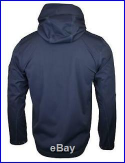 Stone Island Light Soft Shell SI Check Grid Jacket Navy BNWT RRP £395