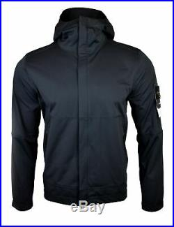 Stone Island SS18 Black Light Soft Shell SI Check Grid Jacket BNWT RRP £395