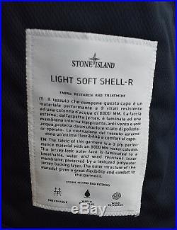 Stone Island SS18 Navy Blue Light Soft Shell-R Jacket BNWT RRP £395