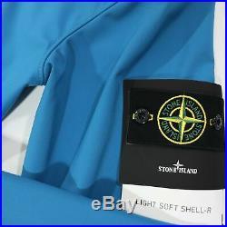 Stone Island Soft Shell Jacket Blue