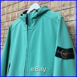 Stone Island Soft Shell Jacket, Rare Mint Green, Size L LARGE
