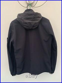 Stone Island Soft Shell R Jacket Size Medium Black
