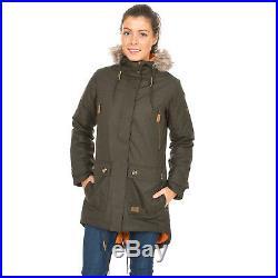 Trespass Clea Womens Waterproof Jacket Ladies Long Rain Coat with Hood