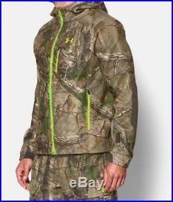 UNDER ARMOUR Storm Windstopper Realtree Camo Hunting Jacket Mens Small/Medium UA