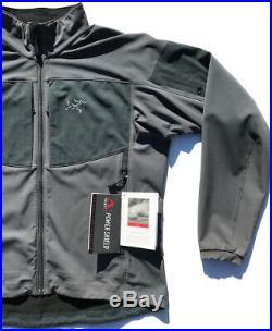 VTG ARCTERYX Canada Gamma MX Jacket Soft Shell Fleece Gray Mens L LEAF Veilance