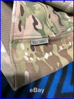 Wild Things Tactical Multicam Grid Fleece Lined Soft Shell Jacket S. O. SOCOM CAG