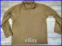Wild Things Tactical Soft Shell Jacket Lightweight S. O. Size Large Coyote Brown