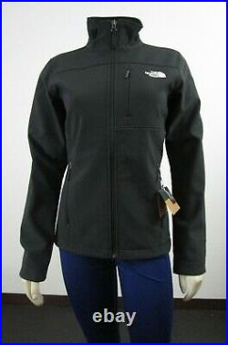 Womens The North Face TNF Apex Bionic Full Zip Softshell Windwall Jacket Black